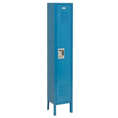 Single Tier Locker, 15x18x72 1 Door, RTA, Blue, Lot of 1