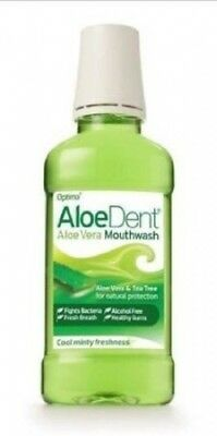 Aloe Dent Mouthwash 250ml (Pack of 3). Shipping Included
