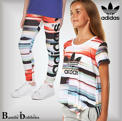 Adidas Concrete Jungle T-Shirt Leggings 2-4-5-6-7-8-9-10-11-12-13-14 Years Girls