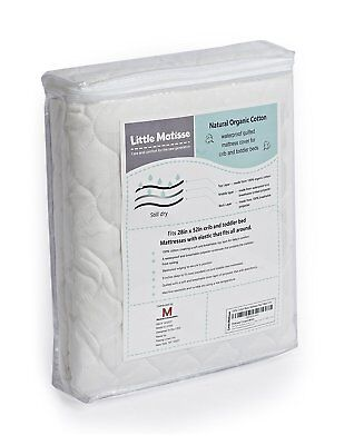 Baby Crib Mattress TOP LAYER Waterproof from Organic Cotton and Elasticated