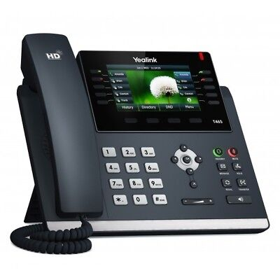 "Yealink Sip-T46S Ultra-Elegant Gigabit Ip Phone 4.3"" Display"