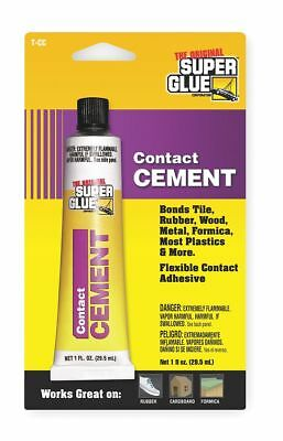 Super Glue 1 oz. Acrylic Contact Cement, Clear 1 oz. Clear   T-CC48