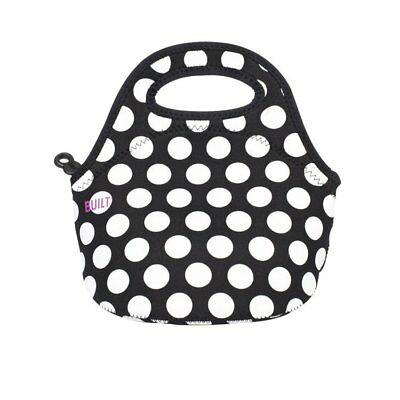 NEW BUILT NY Gourmet Getaway Mini Lunch Tote Big Dot Black & White (RRP $35)
