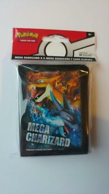 Mega Charizard X & Y CARD SLEEVES 65x Pack Pokemon Trading Card Game Official UK