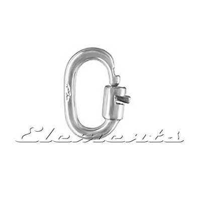 2 Sizes .925 Sterling Silver Strong Secure Link Lock Rings Jewellery Findings