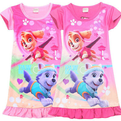 US Stock!  Paw Patrol Girls Kids Nightgown Pajamas Sleepwear Dress  O06