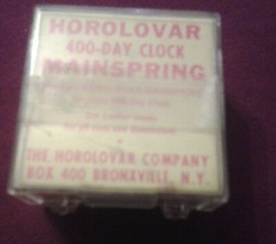 Vintage Horolovar Mainspring Clock Repair Part  New in Box  400 Day Clock