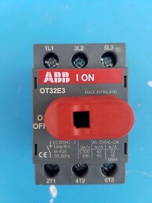 Abb Ot32E3 Disconnect Switch 40A 600Vac 3 Pole