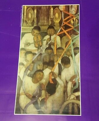 DIEGO RIVERA Mural Fragment in Poster (1988) 27 x 18 inches Sinfonia Mexicana
