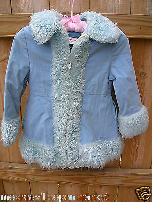 Vintage Faux Fur & Velvet Coat Jacket Rainbow Coat Union made in USA small girl