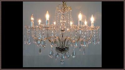 Vintage Italian Crystal Chandelier Never Used Unique Design 405 Amazing Crystals