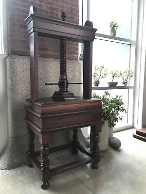 rare large antique wooden press for paper/photo conservation, binding, embossing
