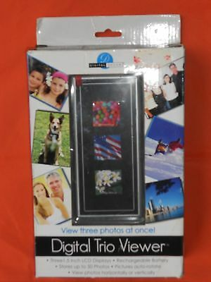 NEW Rechargeable Digital Trio Viewer 50 Photos Picture Frame LCD Display