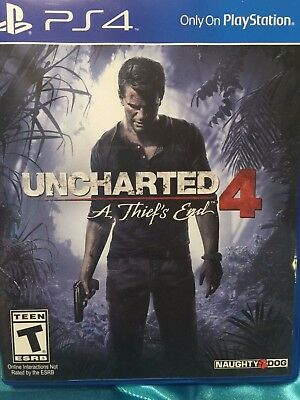 PS4 uncharted 4 A Thiefs End Playstation Video Game Sony