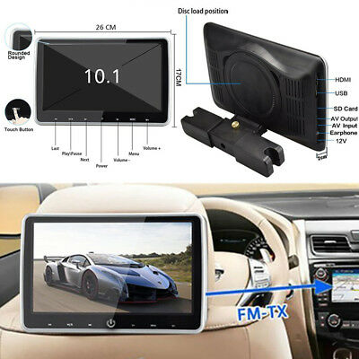 "10.1"" HD TFT Headrest DVD Player Car Multimedia Back Seat Entertainment Monitor"