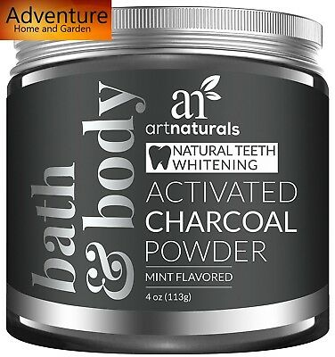 Coconut Whitening Powder Charcoal Teeth Activated Natural 4 Oz Mint And Refresh