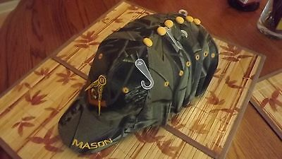6  Embroidered Masonic Camouflage Caps Hat Square & Compasses New