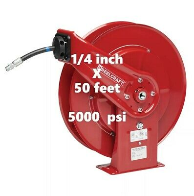 """REELCRAFT 7450 OHP 1/4"""" x 50ft. 5000 psi  for Grease service  with Hose"""
