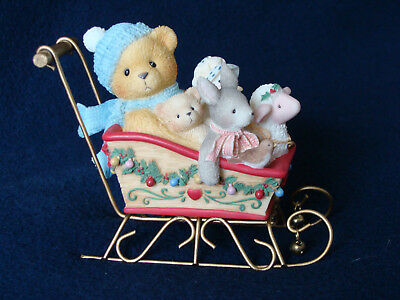 Cherished Teddies - Brian - Boy With Toys In Sleigh Figurine - 533807 - 1995