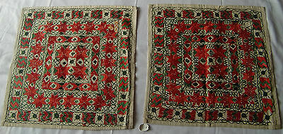 Traditional Old Vintage Embroidery Cushion/pillow Cover India Fine India Art 28