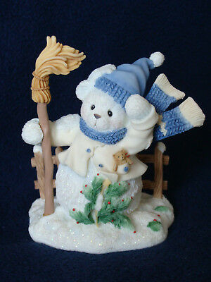 Cherished Teddies - Buddy - Snowbear With Scarf And Broom Figurine - 706892