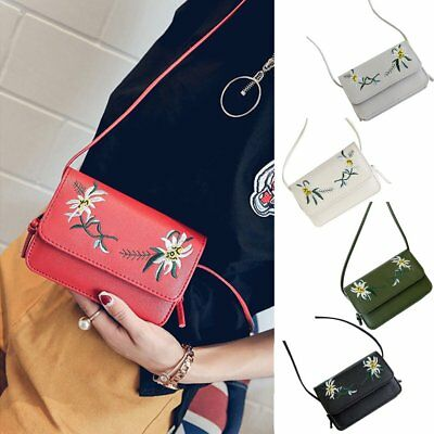 Women Handbag PU Messenger Bag Satchel Tote Purse Crossbody Floral Shoulder Bags