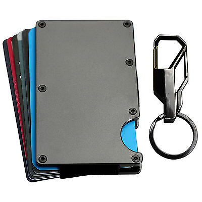 TITAN EG RFID Blocking Aluminum card holder, money clip wallet Keychain Gift Set