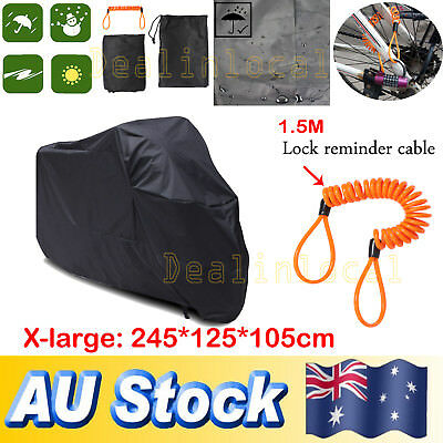 XL Waterproof Outdoor Motorcycle Motorbike Cruiser Scooter Motor Bike Cover AU