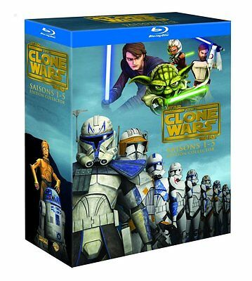 Star Wars The Clone Wars -BLU RAY intégrale -Saisons 1 à 5  - COMMME NEUF -