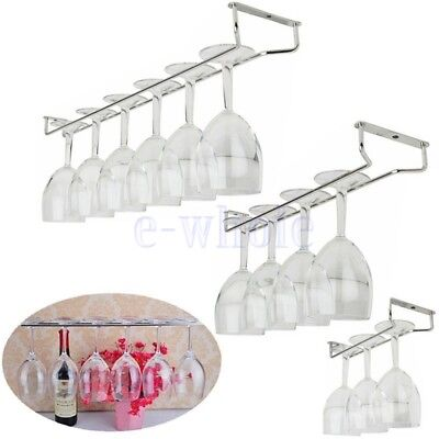 Wine Glass Hanger Rack Holder Shelf Under Cabinet Stemware Organizer 1 Row GL