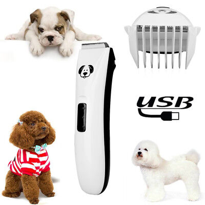 Low Noise Electric Animal Pet Dog Cat Hair Clipper Grooming Trimmer Shaver USB