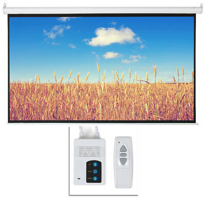 """Big Sale 100"""" 16:9 HD Foldable Electric Motorized Projector Screen + Remote"""
