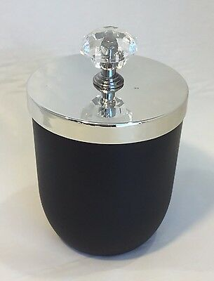 Black Candle Jar With Silver Knob Lid (box of 12)