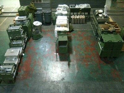 Authentic Military 50 Man Modular Field Kitchen Set
