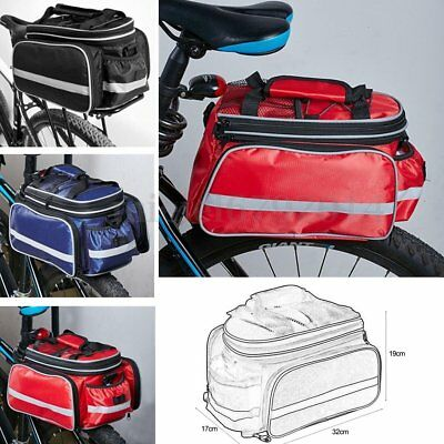 UK Waterproof Bicycle Pannier Seat Bike Cycling Rear Tail Rack Storage Pouch YG