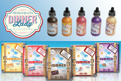 Dinner Lady 60ml Liquid - 7 Sorten wie Apple Pie, Orange Tart, Blackbery Crumble