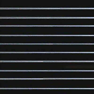 Slat Wall Panel 1.2 X 1.2 MDF Black/white 18mm Inserts Included
