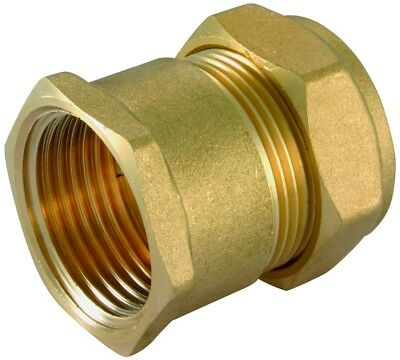 "Brass Compression 28mm x 1"" BSP Female Iron to Copper Straight Coupler Adaptor"