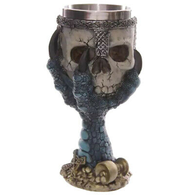 Gothic Halloween Spooky Goblet Stainless Cup 3D Skull Coffee Mug Wine Bottle