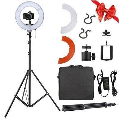 """14"""" 40W 5500K Dimmable LED Ring Light Kit 2m Adjustable Light Stand Photo Video"""