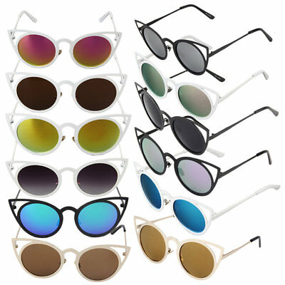 New Fashion Trendy Women Top Quality Cat Eye Round Circle UV400 Sunglasses YG