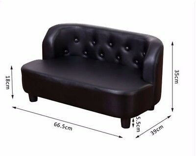 pet sofa bed, cat bed or small dog also suitable, black faux leather, NEW IN BOX
