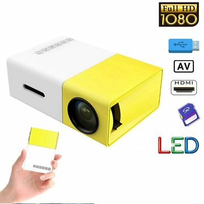 Mini Portable LED 1080P HD Projector Home Theater For iPhone Sumsung Tablet PC