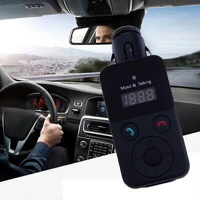 Car Kit Handsfree Wireless Bluetooth FM Transmitter USB LCD Round buttons YG