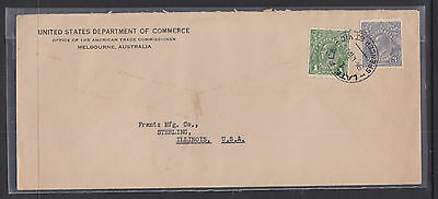 1939? KGV 1d AND 3d ON COVER TO THE USA.