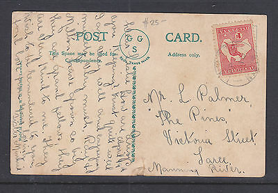 1913-5? 1d RED KANGAROO ON POST CARD LOWER JUNCTION FALLS LAWSON BLUE MOUNTAINS
