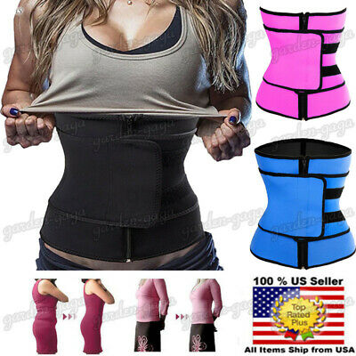 Women Waist Belt Hot Slimming Thermo Faja Trimmer Gym Workout Waist Trainer Belt