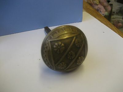 Antique Arts & Crafts Daisy Brass Door Knob/doorknob/nice Scroll Work