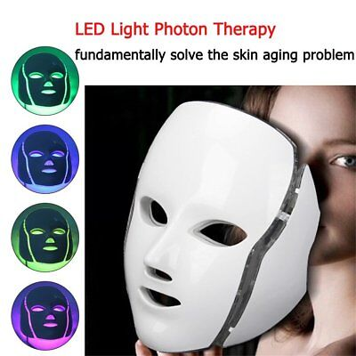 LED 7Colors Light Microcurrent Skin Rejuvenation Facial Mask Electric Device YG