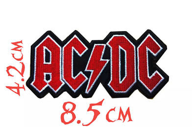 Quality Iron/Sew on AC/DC biker concert logo lightning bolt concert patch ACDC
